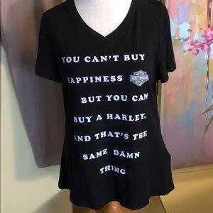 NWT Harley Davidson Black Happiness T-shirt Sz. Lg